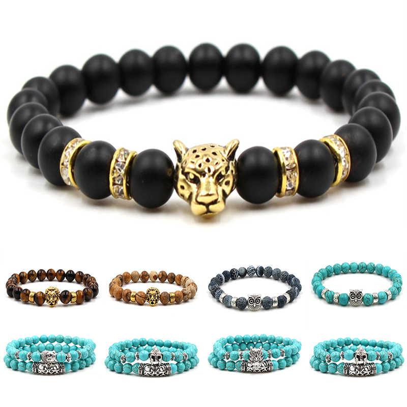 2020 moda bransoletki z kamienia naturalnego lew złoty budda koraliki bransoletki dla kobiet akcesoria biżuteria prezent walentynki prezenty