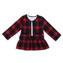 Рождественское платье для маленьких девочек комплекты из 2 предметов
