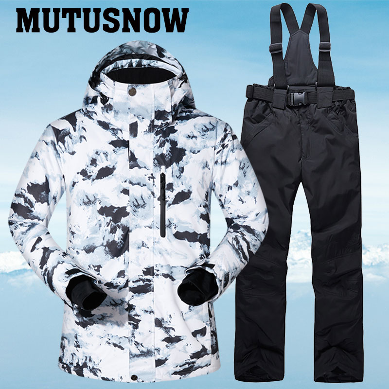 Combinaison de Ski hommes hiver chaud coupe-vent imperméable Sports de plein air vestes et pantalons de neige équipement de Ski chaud veste de Snowboard hommes marque
