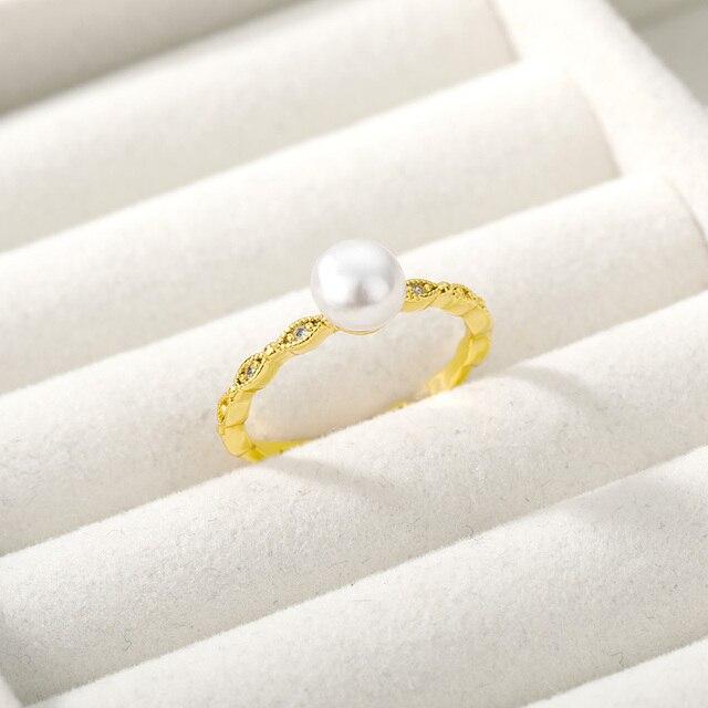 Купить модные регулируемые кольца с жемчугом для женщин шикарное кольцо картинки цена