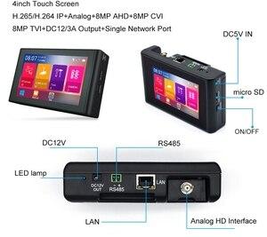 Image 4 - 4 インチ H.265 4 18K HD IP CCTV テスターモニター AHD CVBS CVI TVI カメラテスター 8MP 5MP UTP テスター WIFI ONVIF POE 48V 12V アウト