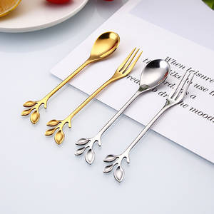 Tableware Scoops-Accessories Spoon Dessert Coffee Stainless-Steel Creative Snack 1pc