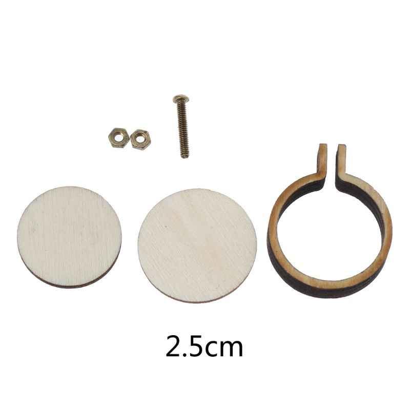 DIY punto de cruz de madera aro Mini anillo bordado círculo Kit de costura marco artesanal