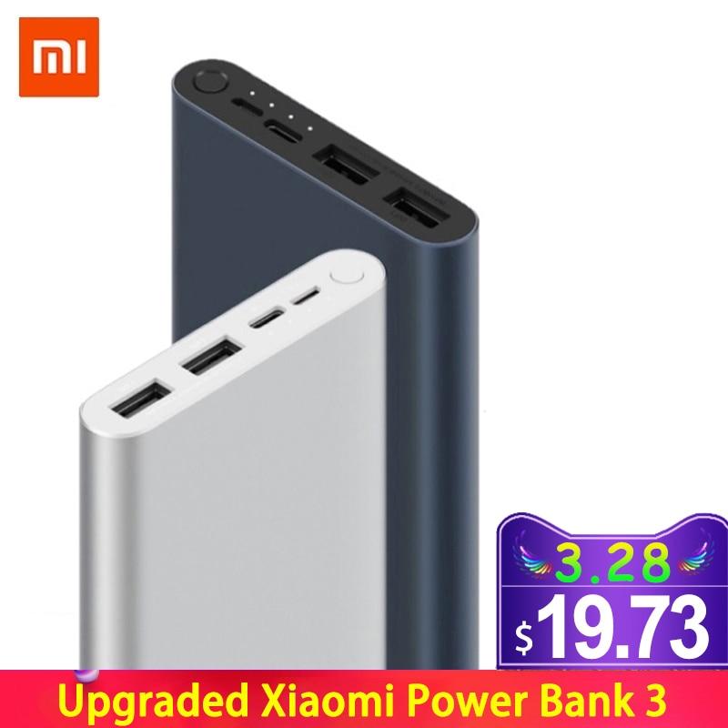 10000 mah xiao mi banco de potência 3 bateria externa 18 w carga rápida powerbank 10000 com usb tipo c para o telefone móvel