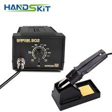 Pinças smd 110v/220v 75w, estação de solda ferro 902 esd anti estática ajustável controle de temperatura termostato 900m ponta