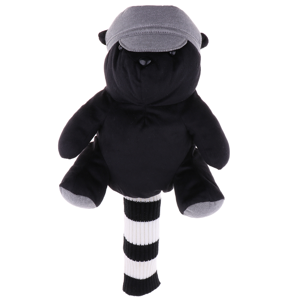 Novelty Bear Design Golf Club Head Cover Wood Putters Headcover Driver Head Guard Protector For 460 CC