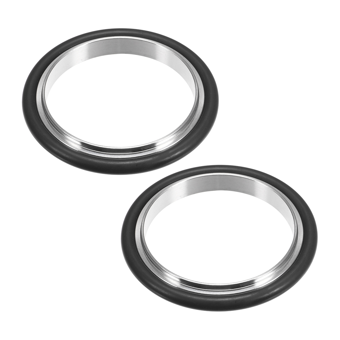 uxcell 2 Pcs Centering Ring KF-16 Vacuum Fittings ISO-KF Flange 66mm x 49.7mm Fluororubber O-Ring