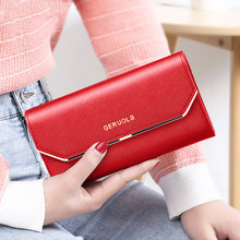 Wallet Women Leather For Ladies Fashion Female CellPhone Purses 2021 Money Bag New Carteras De Mujer