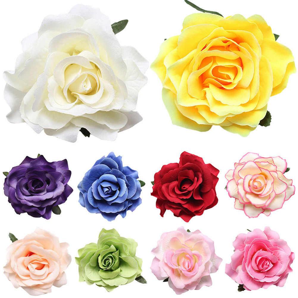 1 個かわいいローズフラワーヘアピンブライダルヘアクリップバレッタブローチ結婚式パーティー · ガール女性子供ヘアアクセサリー頭飾りホット