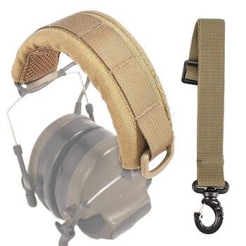 Модульный чехол для уличной гарнитуры Molle, головная повязка для обычных тактических наушников, микрофон, аксессуары для охоты, чехол для нау...