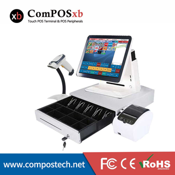 White/Black terminal 15 inch Touch Screen Billing Machine/All in One POS/ Restaurant Free Shipping  POS Systems for retail haina touch 15 inch touch screen dual screen pos terminal with nfc card reader