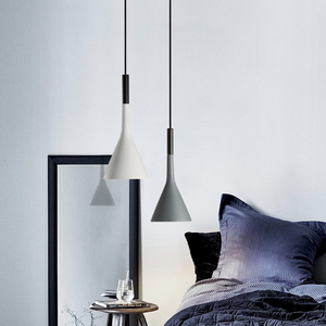 Image 3 - Modern Pendant Lights Kitchen Fixtures For Dining Room Restaurant Bars Home Bedroom White Black Red Lighting Deco Hanging Lamp