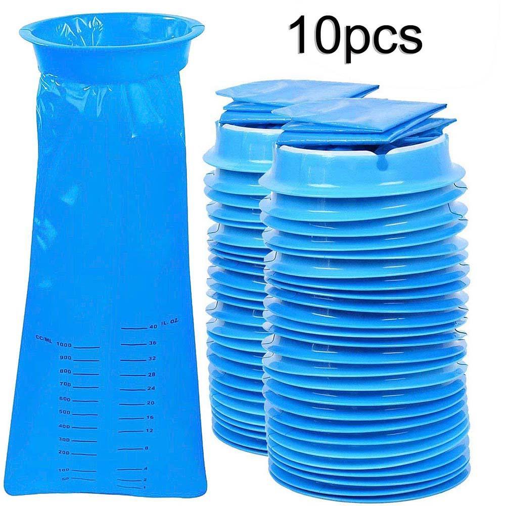 10 шт., одноразовые пакеты для мочи унисекс, 1000 мл