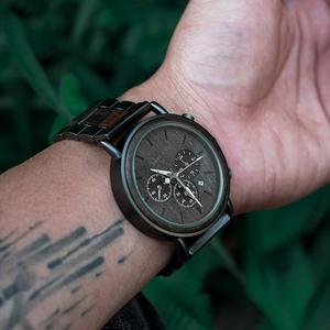 Image 4 - BOBO VOGEL Männer Uhren Stoppuhr uhren hombre Holz Armbanduhren Männlichen Zeigen Datum erkek kol saati in Geschenke Box USA lager