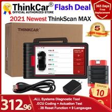 ThinkCar ThinkScan 최대 도구 자동 전체 시스템 진단 스캐너 28 재설정 기능 양방향 테스트 ECU 코딩 CRP909 통해