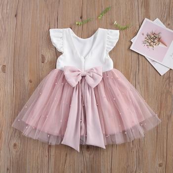 Одежда для малышей платье принцессы для девочек, платье для девочек с юбкой сеточкой, гофрированное, с рукавами крылышками; Летняя женская обувь с кружевным бантом платье сетчатые вечерние платья пачки платье Вечерние Элегантные свадебные Одежда|Платья|   | АлиЭкспресс