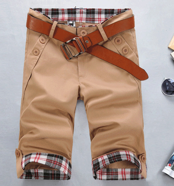 Large Cargo MEN'S Casual Pants Summer Shorts Slim Fit Casual Capri Pants Revers Bermuda Shorts K05