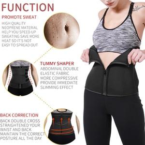 Image 2 - מותניים מאמן הפחתת מעצבי הרזיה גוזם חגורת גוף Shaper Neoprene בטן Shapewear 9 פלדת עצמות אישה Cincher מחוך