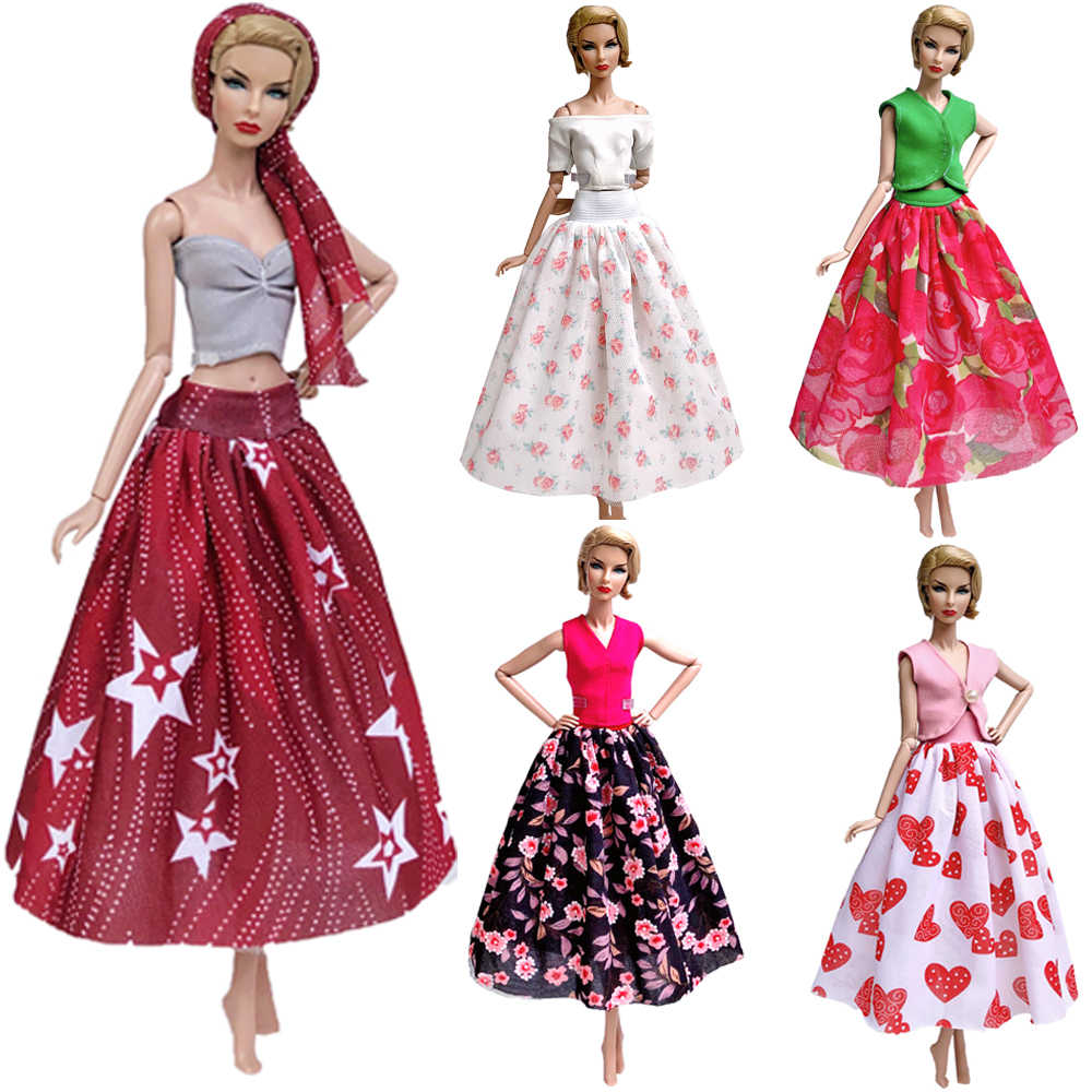 NK Newest Doll  Dress Fashional Design Outfit Handmade Model Party Skirt  For Barbie Doll Accessories Baby Toys Girls'  Gift JJ