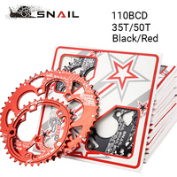 BDSNAIL 110BCD Chainring 50T/35T 9 11speed Road Bike Chain Ring Double Oval 7075 T6 Bicycle Chainwheel Disc Fit SHIMANO,SRAM,FSA