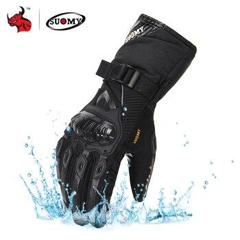 цена SUOMY Motorcycle Gloves Men 100% Waterproof Windproof Winter Moto Gloves Touch Screen Gant Moto Guantes Motorbike Riding Gloves онлайн в 2017 году