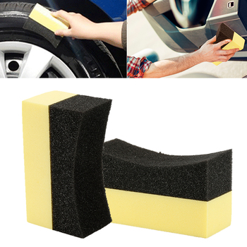 1pcs Car Wheels Brush Multifunctional Tire Hub Waxing Sponge Cleaner Interior Cleaning Tools Polishing Brush Accessories image