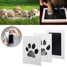 Bebê handprint pegada almofadas de tinta kits pet gato cão pata impressão lembrança seguro presentes não tóxicos 090c