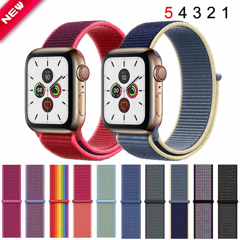 Sport Loop Strap For Apple Watch Band 44mm 40mm 42mm 38mm Bands For IWatch Series 5 4 3 2 Watchband Breathable Bracelet