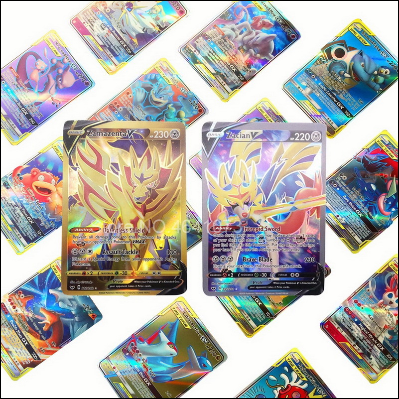 Sem repetição 2020 nova batalha pokemon cartão de jogo vmax tag equipe cartões cartão gx mega ex versão inglês tipo crianças brinquedo presente