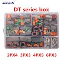 250Pcs Deutsch Dt Serie Waterdichte Draad Connector Kit DT06 2/3/4/6S DT04 2/3/4/6P Automotive Sealed Plug Met Pins Box