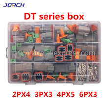 250pcs Deutsch DT series Waterproof Wire Connector Kit DT06 2/3/4/6S DT04 2/3/4/6P Automotive Sealed Plug with pins box