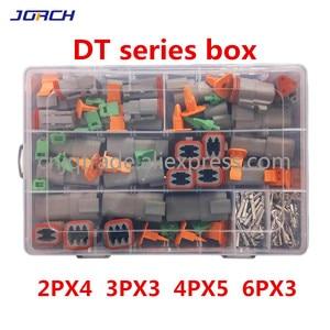 Image 1 - 250pcs Deutsch DT series Waterproof Wire Connector Kit DT06 2/3/4/6S DT04 2/3/4/6P Automotive Sealed Plug with pins box