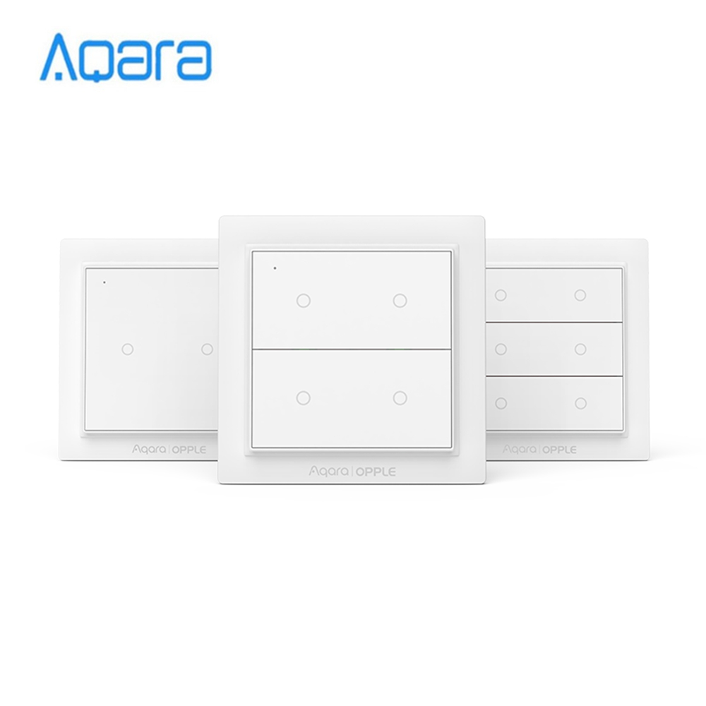 Aqara Opple Wireless Scene Switch Zigbee 3.0 Customizable Wireless Control Wall Switch No Wiring Required Support Apple HomeKit