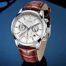 LIGE Mens Relógios Top Marca de Luxo de Couro Casual Quartz Watch Men Esporte Militar Assista Relogio masculino Relógio À Prova D Água Preta