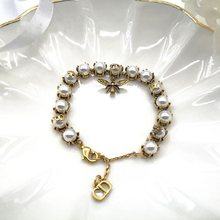 Pearl Silver Gold Plated Bracelet bee crystal 2020 new high quality fashion bracelet noble temperament(China)