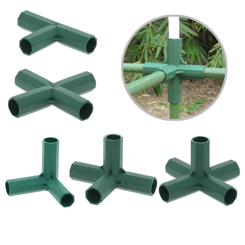 16mm Plastic Gardening Pillar Connectors Vegetable Garden Climbing Plants Bracket Awning Pipe Pole Connecting Joints Garden Tool