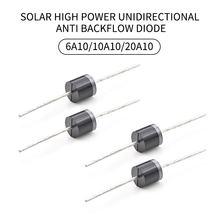10 pces que obstrui o diodo do retificador de alta potência é usado para o carregamento da bateria solar para impedir o refluxo e o refluxo 6a/10a/20a