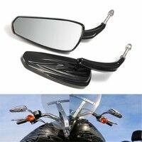 1 par espelho retrovisor da motocicleta para harley sportster softail estrada para o rei glide barra preta extremidade espelho motocicleta do lado passageiro|Espelho e capas| |  -