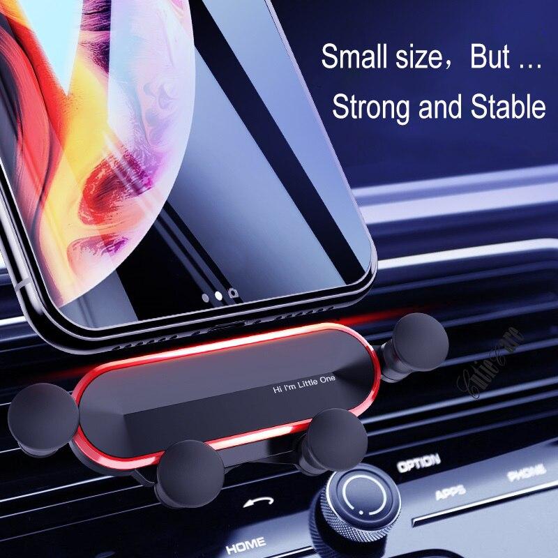 Гравитационная невидимая Выдвижная автомобильная подставка для телефона в автомобиле с вентиляционным отверстием без магнитного держате...