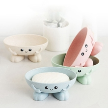 Cute Cartoon Soap Box Creative 3D Drain Holder Bathroom Storage For Children