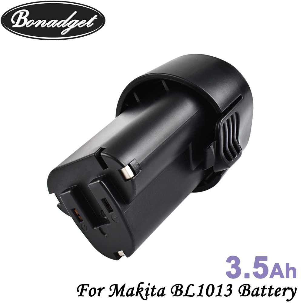Bonadget 3500Ah 10.8V BL1013 Li-ion Battery For Makita BL1013 BL1014 <font><b>BL</b></font> 1013 <font><b>BL</b></font> <font><b>1014</b></font> LCT203W 194550-6 194551-4 195332-9 DF030D image