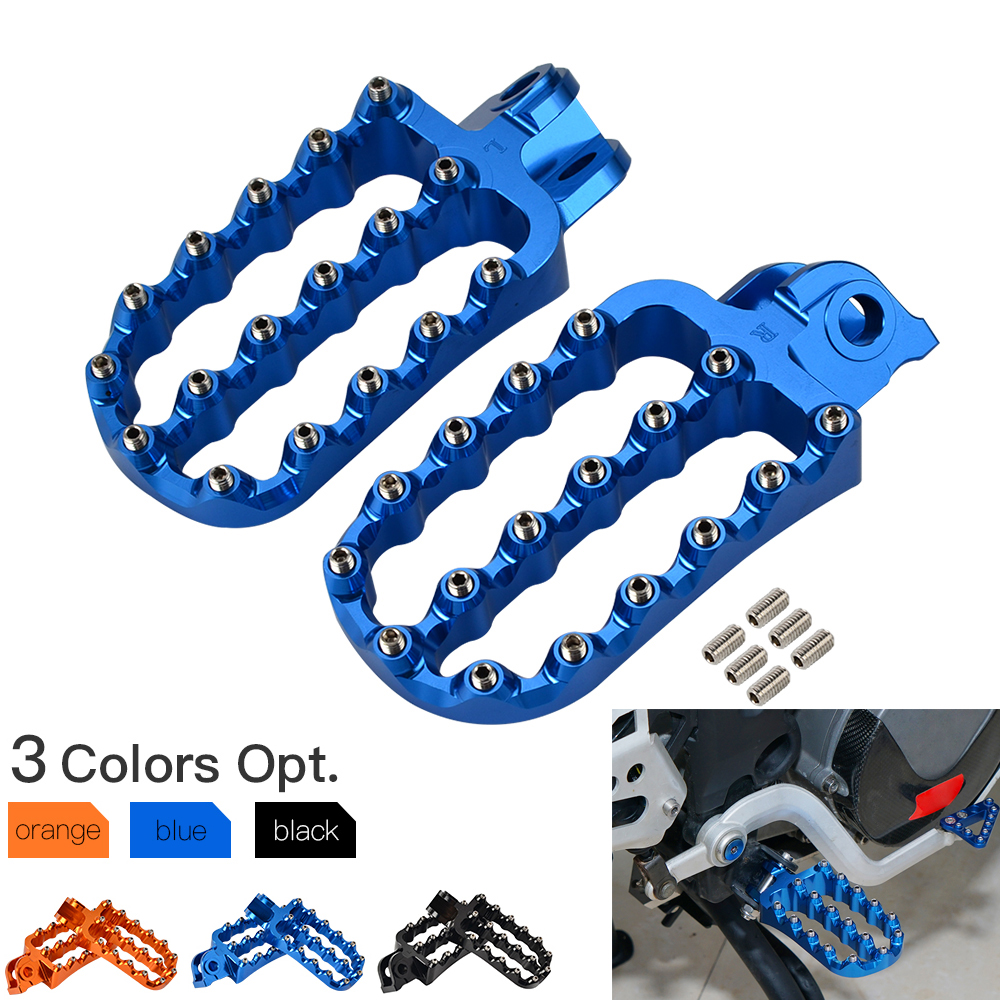 For Husqvarna 701 Enduro Supermoto 2016-2020 Wide Foot Pegs FootRest Footpegs Rests Pedals 2017 2018 2019 4.21