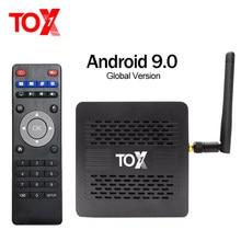 Новый протектор для экрана сенсорного ТВ коробка TOX1 Android 9,0 ТВ Box Amlogic S905X3, 4 Гб оперативной памяти, 32 Гб встроенной памяти, Декодер каналов каб...