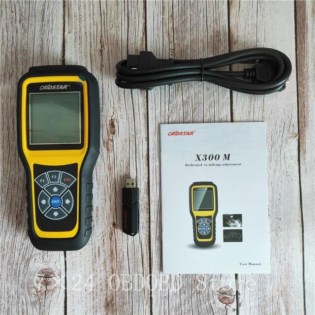 OBDSTAR X300M عداد المسافات تعديل و OBDII دعم بنز الأميال تصحيح أداة X300 M إضافة ل فيات/فولفو و MQB نماذج