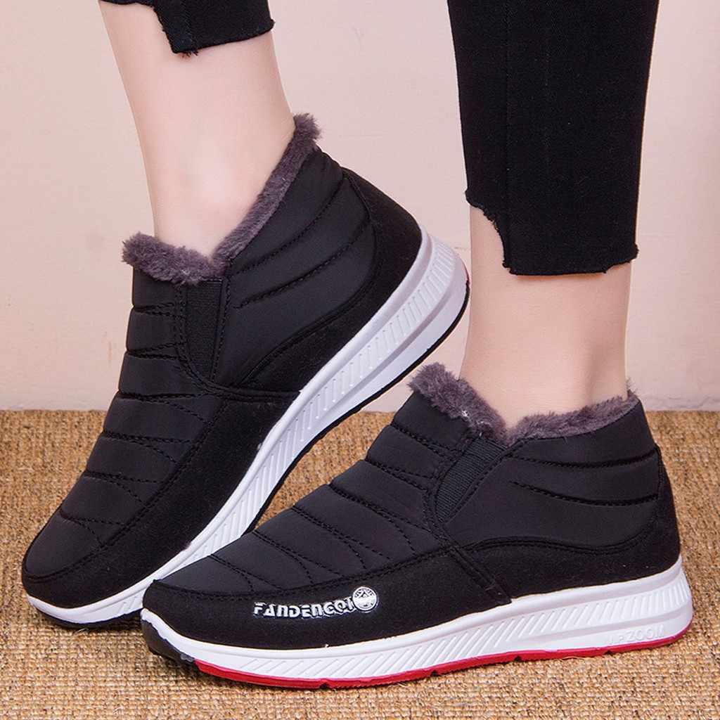 SAGACE kadın botları kış sıcak Platform alt botlar kaymaz kar yarım çizmeler anne platformu rahat kadın kısa çizmeler #45