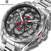 PAGANI DESIGN Quartz men's watches multifunction fashion wrist watch men top brand luxury sport watch steel clock Reloj hombres