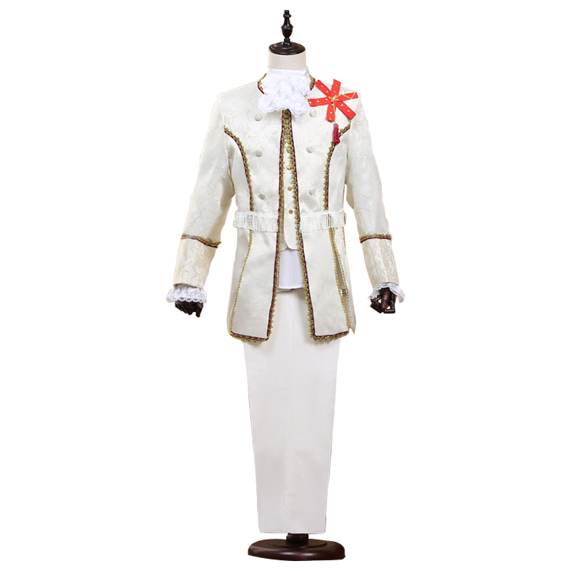 3 Piece Set Palace Prince Suit Embroidered Slim Suit Cosplay Prince Dance Star Style Suit Set Fashion Men's Children Style