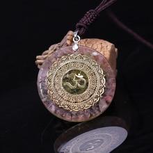 Reiki Orgonite Divination Pendant Necklace Natural Energy Crystal Guardian Pendant Enhances Fortune Jewelry Unisex