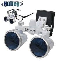Loupes dentaires avec Clip, loupe binoculaire 3.5X pour la beauté dentaire, Distance de travail 420 mm outil de Zoom