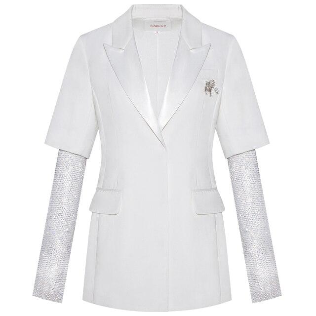 Фото модное женское белое пальто yigelila элегантное шикарное верхняя цена